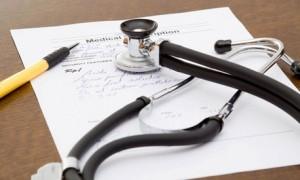 Stethoscope on a medicare form. Medicare advantage plans MedicareNowCO
